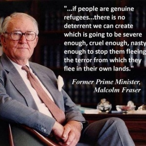 Ex Prime Minister Malcolm Fraser